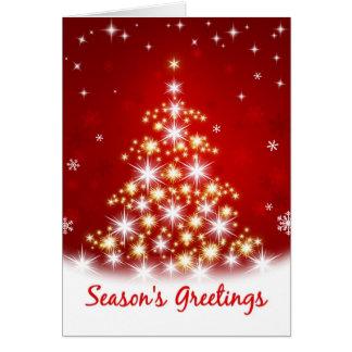 Season s Greetings - Star Tree Christmas Card