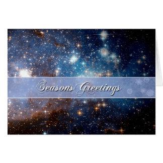 Season s Greetings Starry Night – Hubble Telescope Card