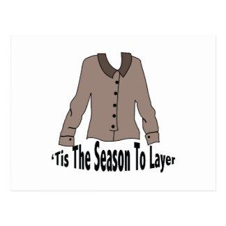 Season To Layer Postcard