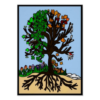 Season Tree Poster