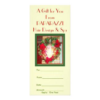 Seasonal, Beautiful Business Gift Card/Certificate Personalized Rack Card
