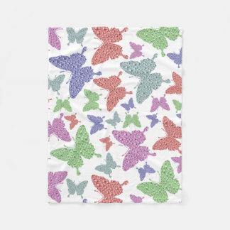 Seasonal Butterflies Small Fleece Blanket