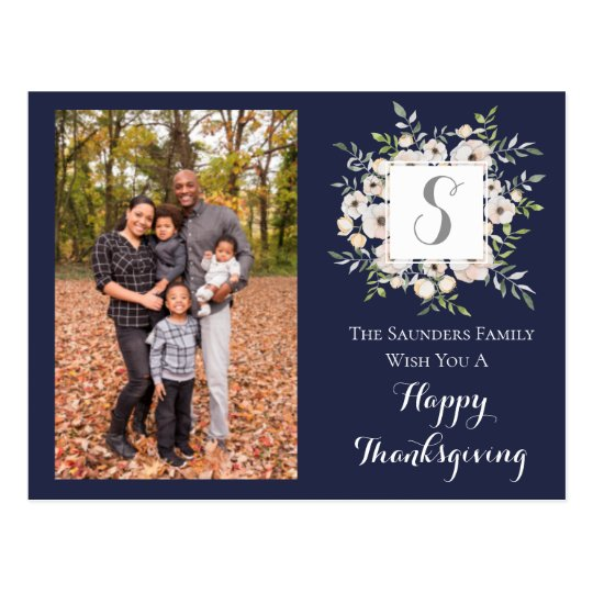 Seasonal Family Photo Card | Thanksgiving