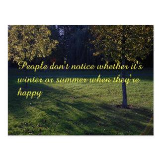 Seasonal happiness postcard