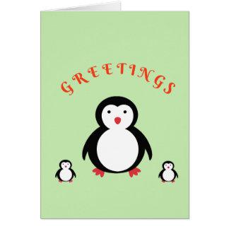 Seasonal Penguins Card