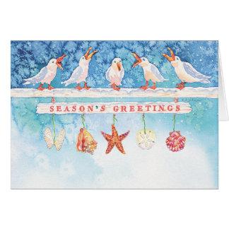Seasonal Seagulls Greeting Card
