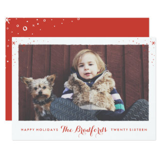 Seasonal Sparkle Holiday Photo Card