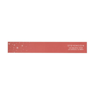 Seasonal Sparkle Holiday Return Address Labels