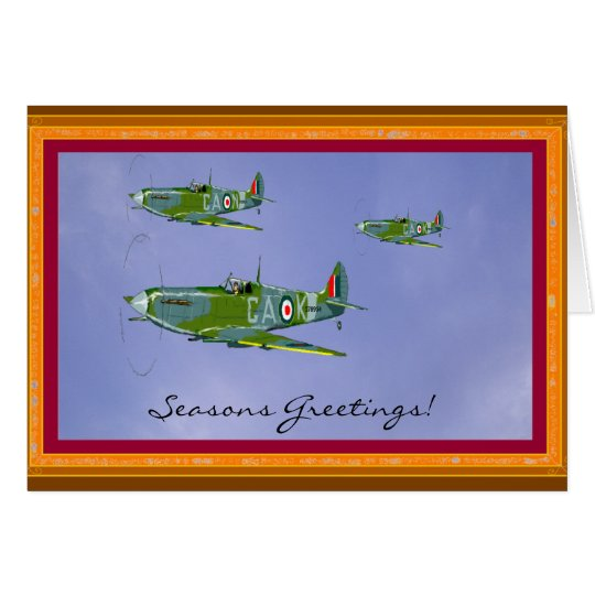 Seasonal Spitfire Greetings Card Card