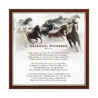 Seasonal Stampede Gallery Wrap Canvas