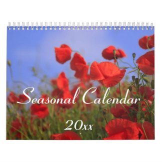 Seasonal Wall Calendar