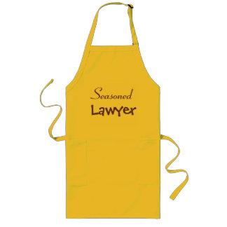 Seasoned Lawyer Gift Idea - Funny Joke Pun Name Long Apron