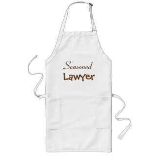 Seasoned Lawyer Retirement Gift Idea - Joke Name Long Apron