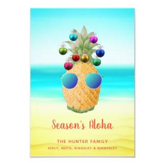 Season's Aloha Christmas Pineapple    Card