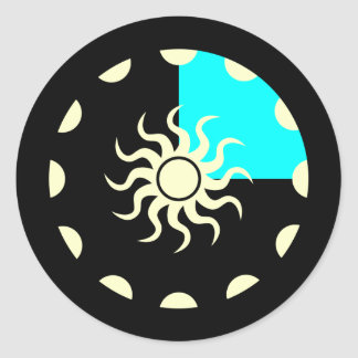 Seasons and the Sun Winter Round Sticker
