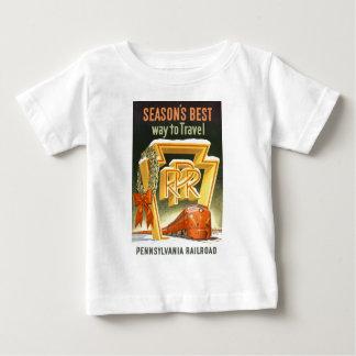 Season's Best Way To Travel Pennsylvania Railroad Tee Shirt
