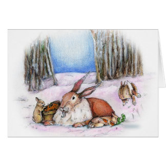 Season's Bunny Card