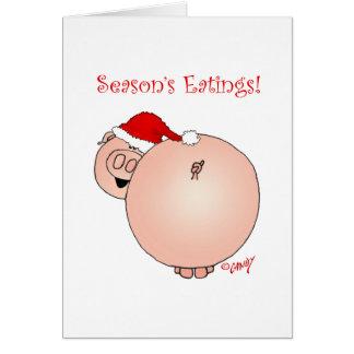 Season's Eatings Pig! Cards