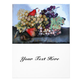 SEASON'S FRUITS 1 - GRAPES AND PEARS 21.5 CM X 28 CM FLYER