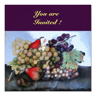 "SEASON'S FRUITS 1 5.25"" SQUARE INVITATION CARD"