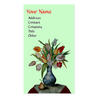 SEASON'S FRUITS - COLORFUL TULIPS  MONOGRAM PACK OF STANDARD BUSINESS CARDS