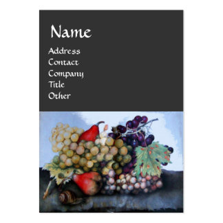 SEASON'S FRUITS /GRAPES AND PEARS STILL LIFE PACK OF CHUBBY BUSINESS CARDS