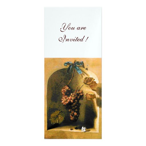 SEASON'S FRUITS - PROSPERITY ,brown yellow white Personalized Announcement