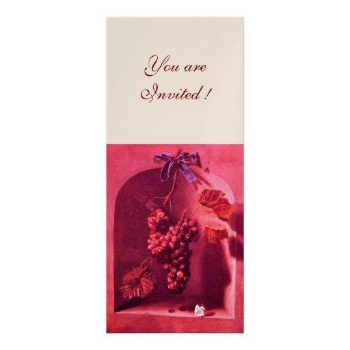 SEASON'S FRUITS - PROSPERITY pink red champagne Custom Invitations