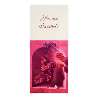 SEASON'S FRUITS - PROSPERITY ,pink red gold Personalized Announcements
