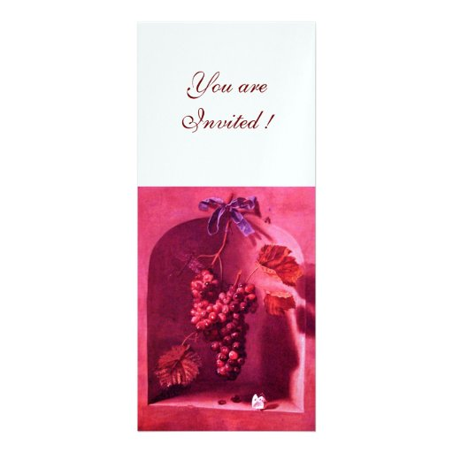 SEASON'S FRUITS - PROSPERITY ,pink red white ice Custom Invites
