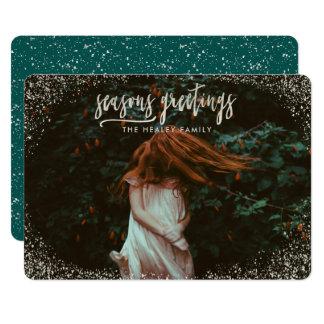 SEASONS GREETING (SILVER EFFECT) CARD