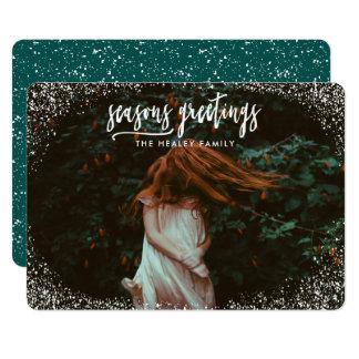 SEASONS GREETING (white snow) Card