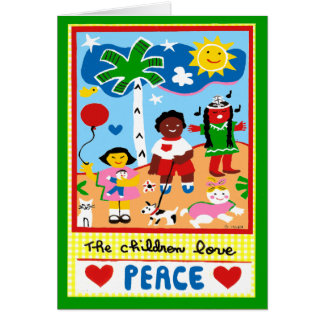 Season's Greetings about Peace and Love Greeting Card