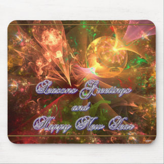 Seasons Greetings and Happy New Year Mouse Pad