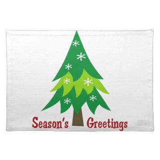 Season's Greetings Applique Placemat