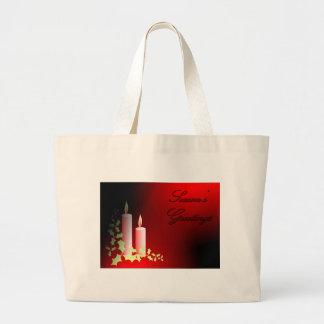Season's Greetings Canvas Bags