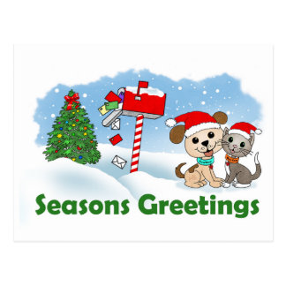 Seasons Greetings... (BowWow & MeeYow) Postcard