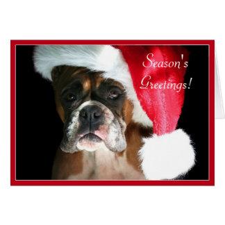 Season's Greetings Boxer dog greeting card