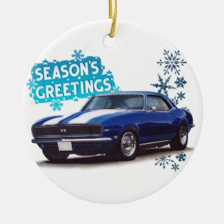 Season's Greetings Camaro Christmas Ornament