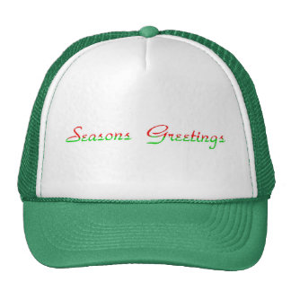 Seasons Greetings Cap