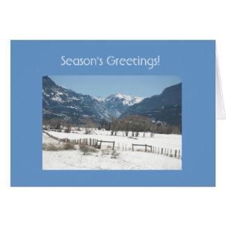 Season's Greetings! Greeting Card