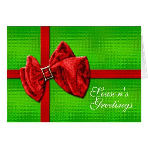 Season's Greetings card template PERSONALIZE