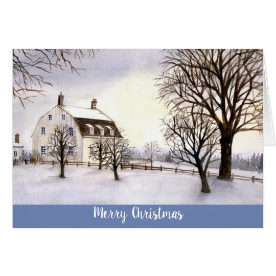 Season's Greetings Card Winter in New England