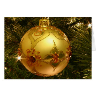Season's Greetings Card with Ornament