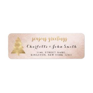 Seasons Greetings Champaign Golden Christmas Tree