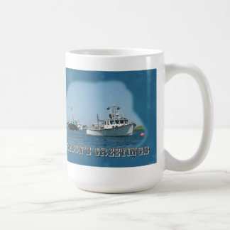 Season's Greetings - Chatham Harbor Boats Basic White Mug