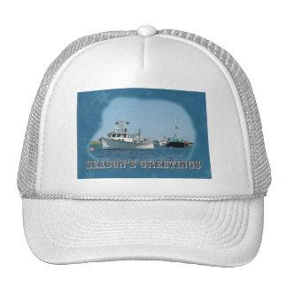 Season's Greetings - Chatham Harbor Boats Cap
