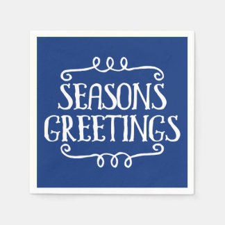 Seasons Greetings Christmas Holiday Napkin Paper Napkin