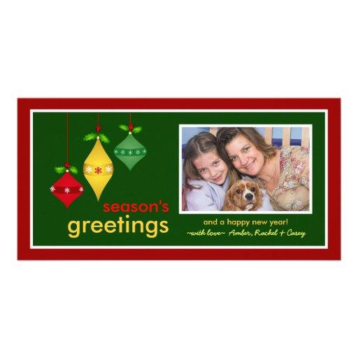 Season's Greetings Christmas Photo Cards