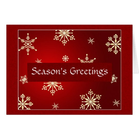 Season's Greetings Customisable Card